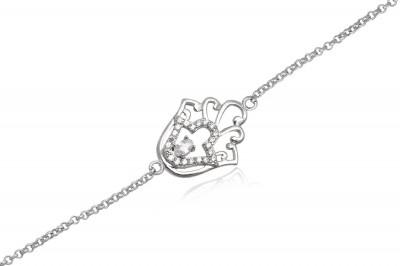 Bratara din argint cu simbol protector