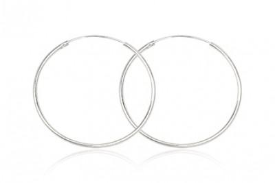 Cercei cercuri mari din argint cu margini netede