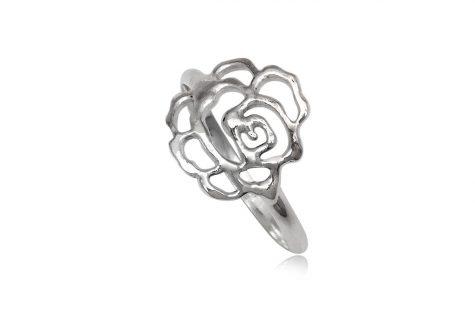 inel cochet cu trandafir