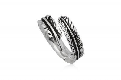 Inel din argint cu forma de pana