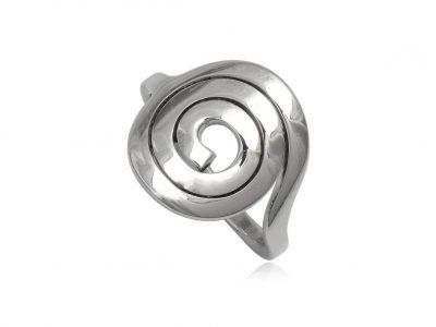 inel argint model spiralat