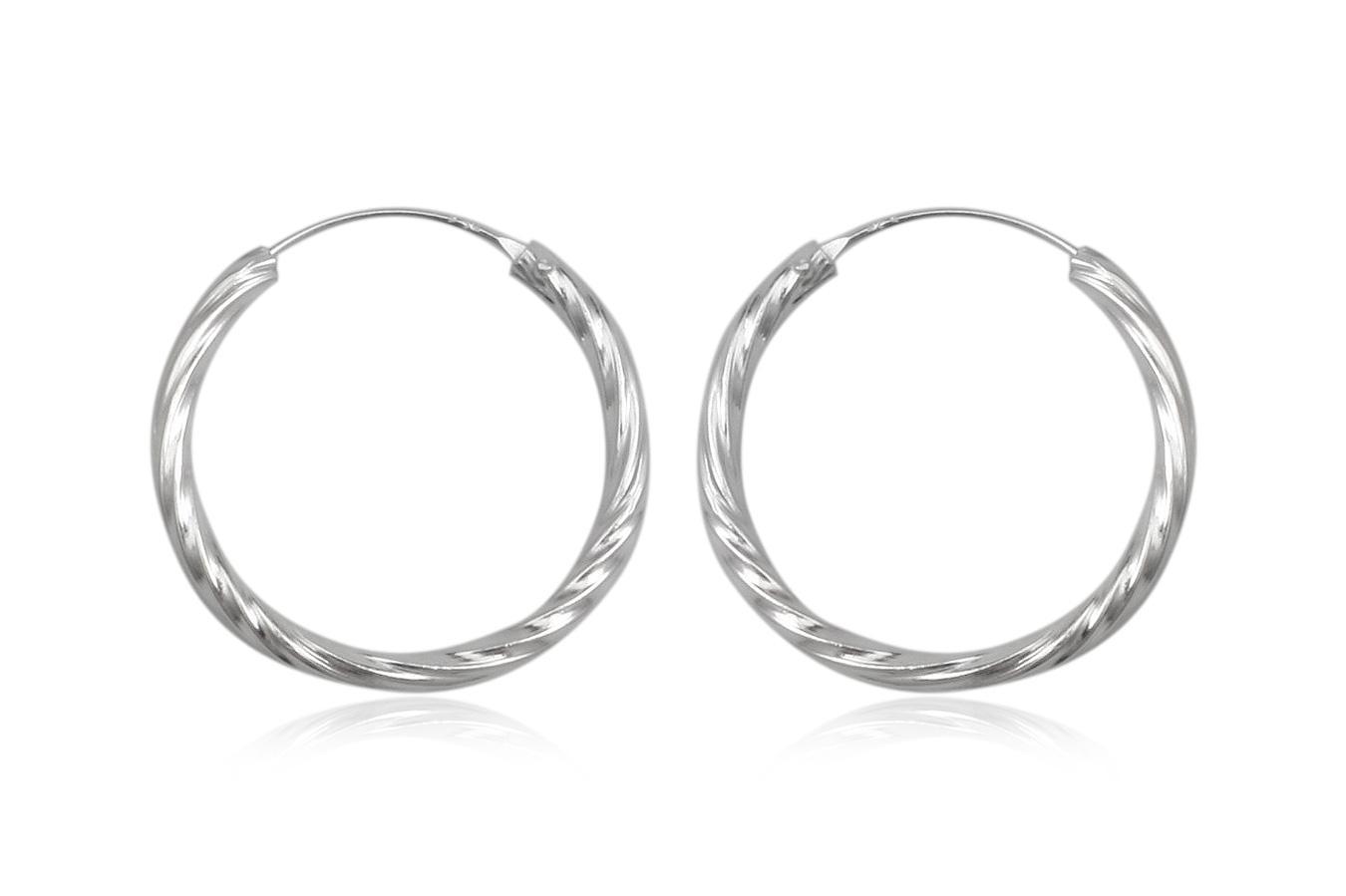 cercei cercuri twist argint