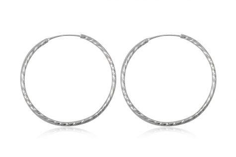 cercei cercuri mari argint