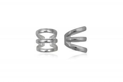 Cercei ear-cuff din argint cu trei inele