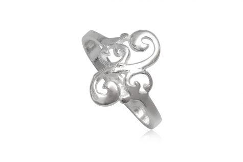 inel argint model rasucit