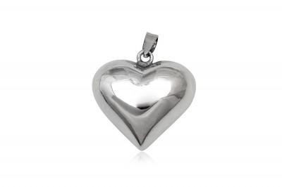 Pandantiv din argint Inima stralucitoare