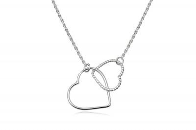 Colier din argint cu inimioare