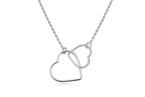 colier argint cu inimi