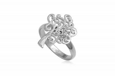 Inel din argint cu simbol Copacul Vietii