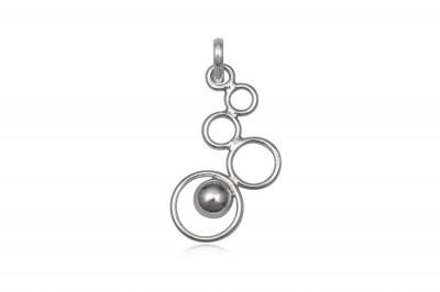 Pandantiv din argint cu cerculete legate