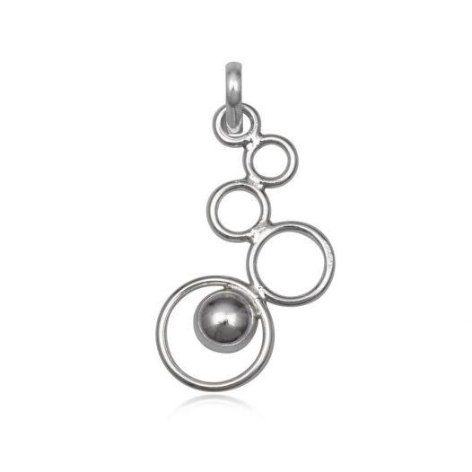 pandantiv argint cu cerculete
