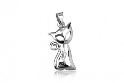 Pandantiv pisica din argint