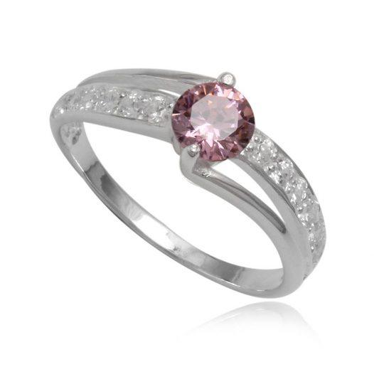inel de logodna cu piatra roz