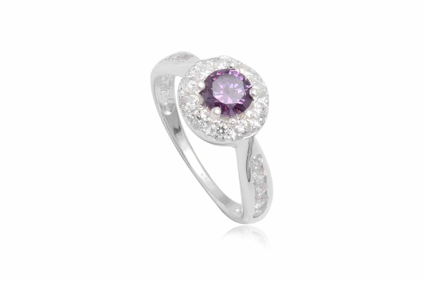 inel de logodna cu piatra mov
