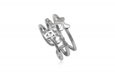 Inel cu aspect triplu din argint