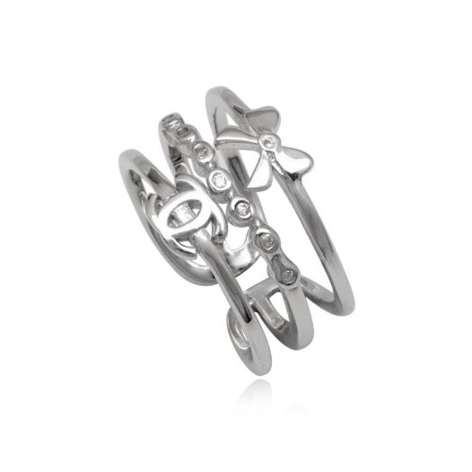 inel triplu din argint