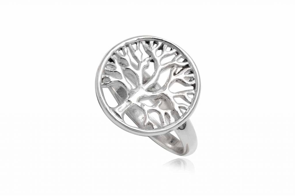 Inel Din Argint Cu Medalion Copacul Vietii