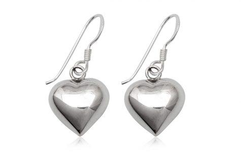 cercei inimi stralucitoare din argint