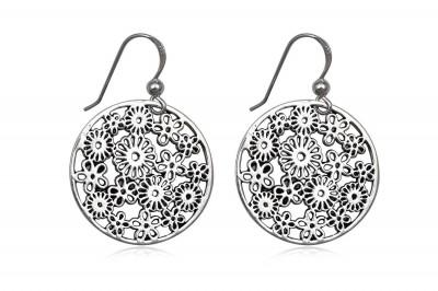 Cercei din argint Nebunie de flori