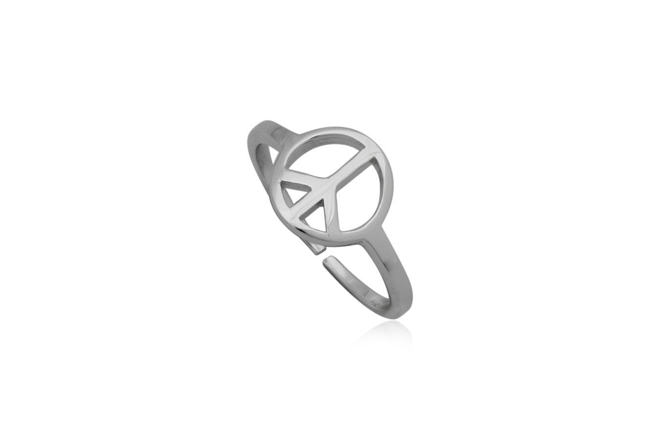 inel midi cu simbolul pacii