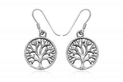 Cercei din argint cu simbol Copacul Vietii