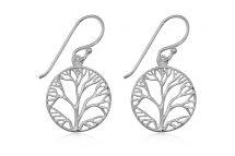 Cercei din argint Copacul Vietii