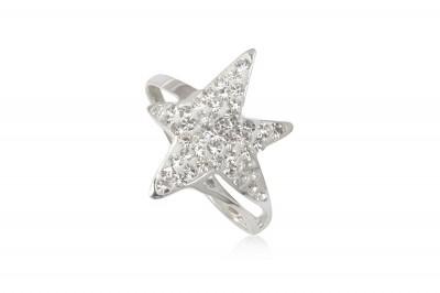 Inel din argint cu stea din cristale