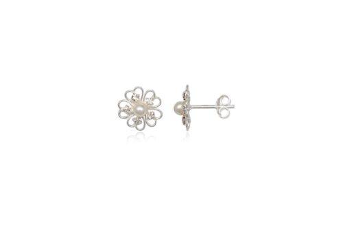 cercei floricele delicate argint
