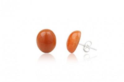 Cercei micuti din cuart orange