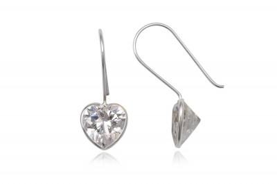 Cercei din argint cu sclipiri de diamant
