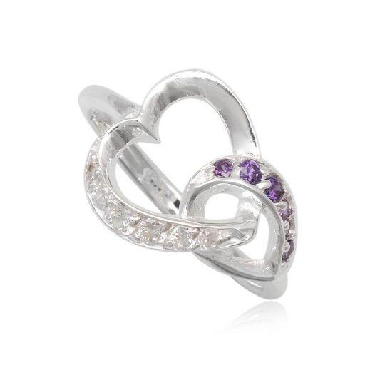 inel argint motiv romantic