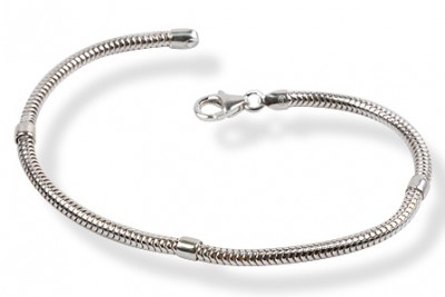 Bratara flexibila din argint usor de personalizat