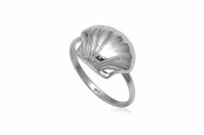 Inel din argint cu model scoica