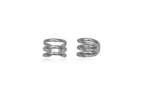 cercei argint ear cuff 3 spirale