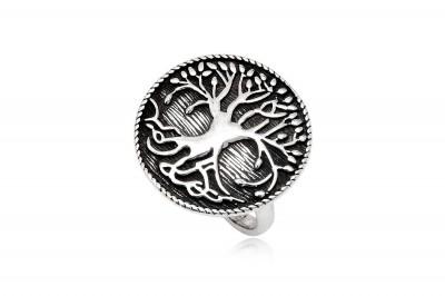 Inel din argint cu simbol Copacul Vietii antichizat