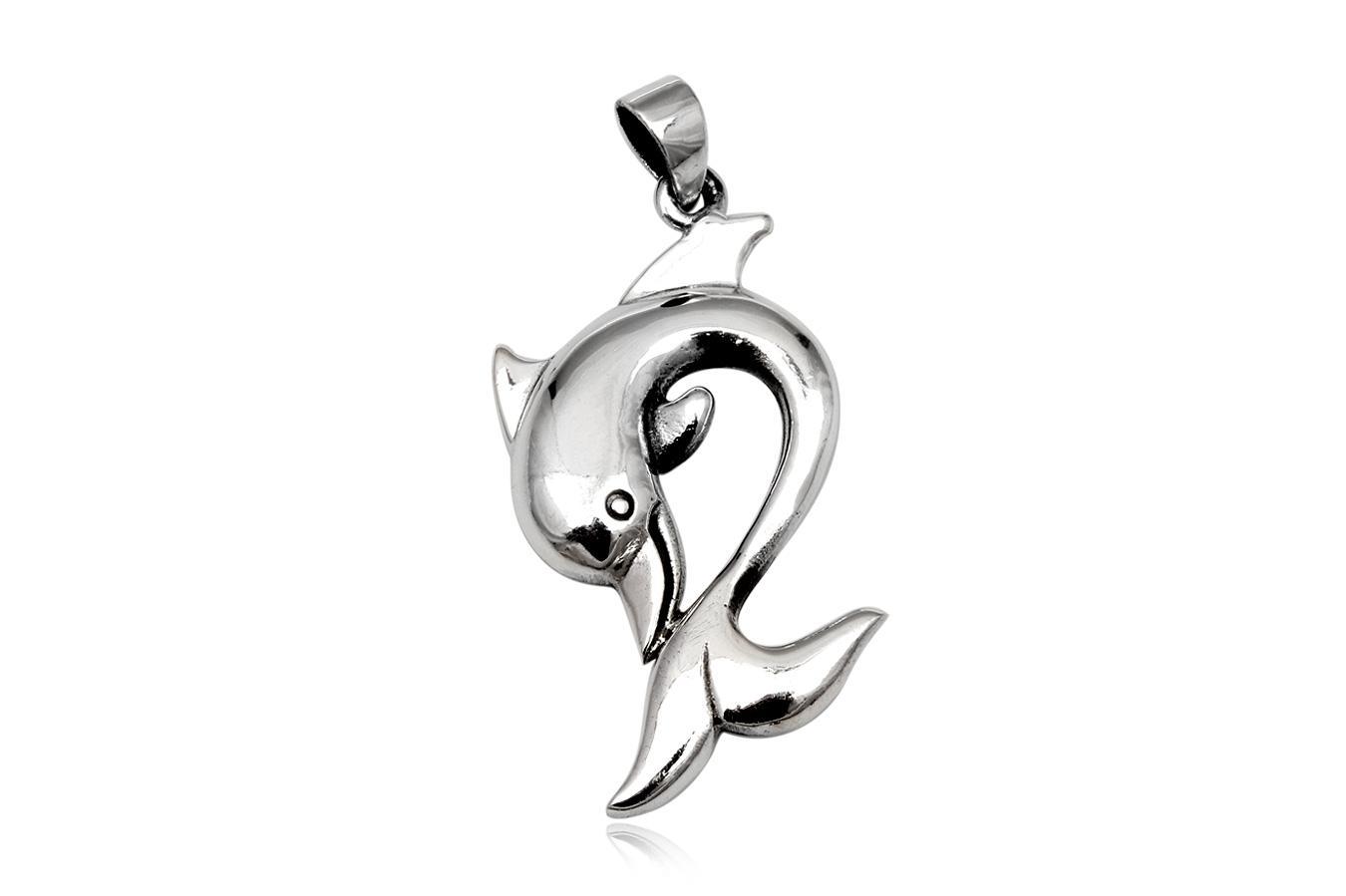 pandantiv delfin gratios din argint