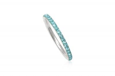 Inel verigheta din argint cu cristale turcoaz