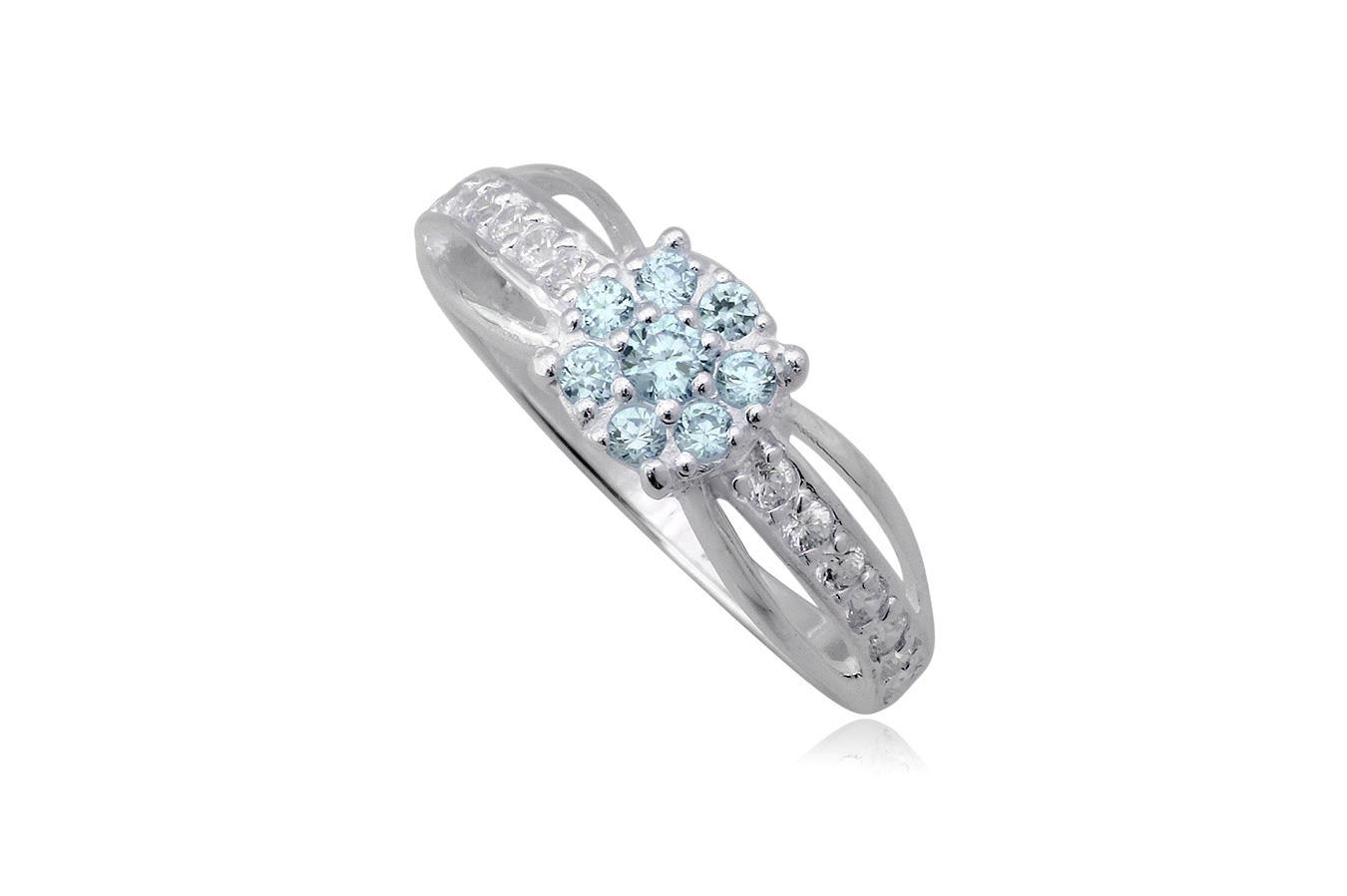 inel de logodna floricica bleu