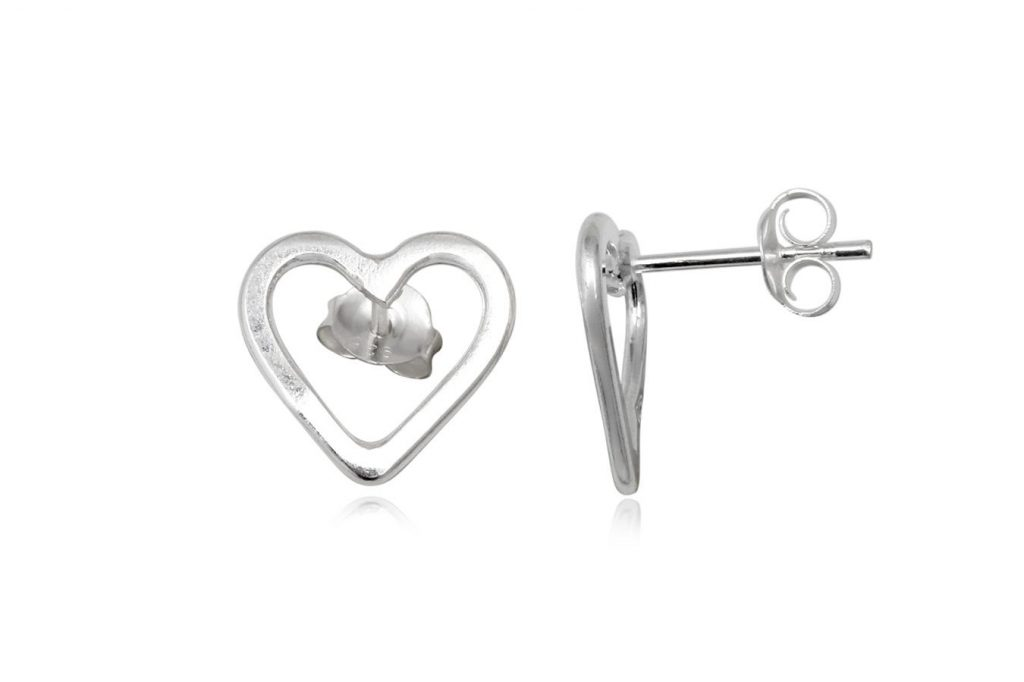 Cercei Inimioare Decupate Din Argint
