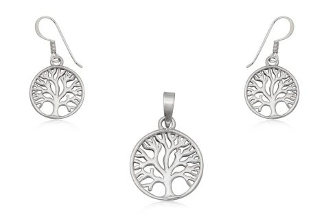 set din argint copacul vietii