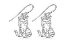 Cercei pisicute dragalase din argint