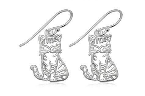 cercei pisicute dragalase argint