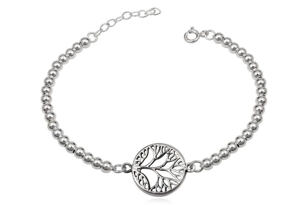 Bratara Din Argint Si Medalion Copacul Vietii