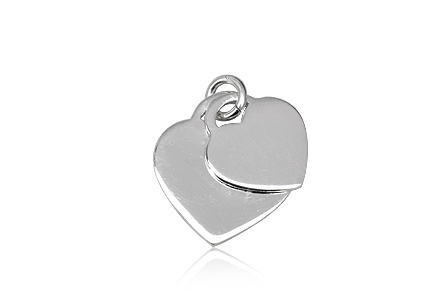 pandantiv inimi pereche din argint