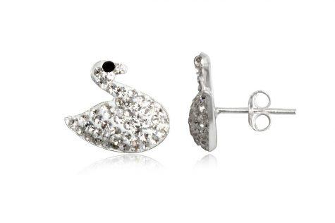 cercei argint lebede cu cristale