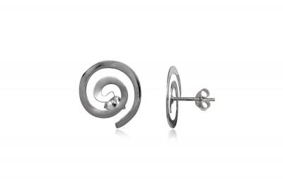 Cercei spirale din argint