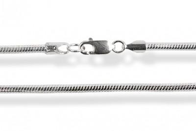 Lant din argint Snake Round 45 cm