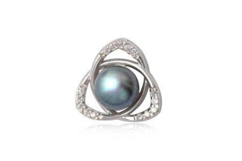 pandantiv cu perla gri-albastrui