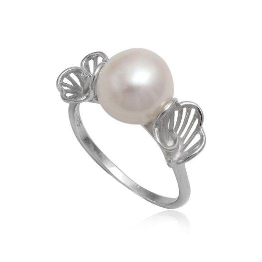 inel din argint cu perla naturala