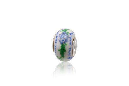 pandantiv ceramica floare bleu